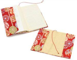 しおりのついた和柄のブックカバー