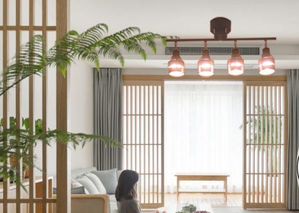 和室に合う木目のシーリングライト