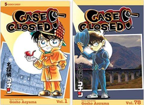 名探偵コナンの英語版の第1巻と78巻