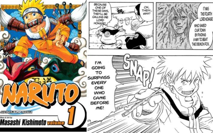 NARUTOの英語版コミック第1巻