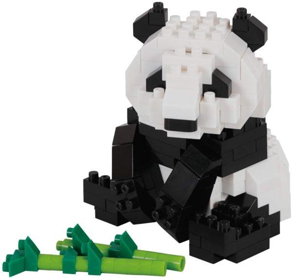 ナノブロックの難易度2のジャイアントパンダ