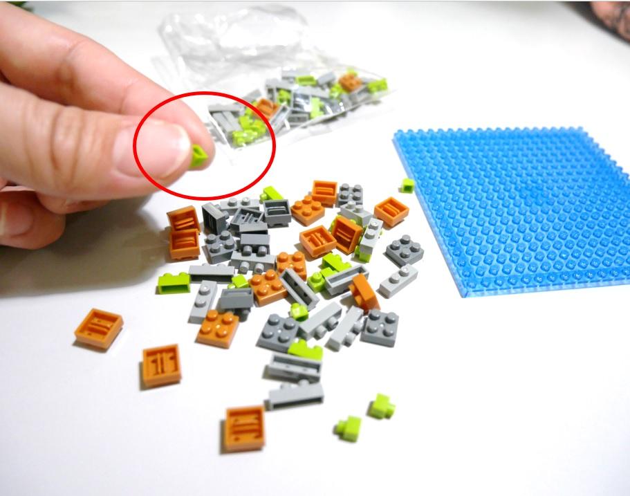 ナノブロックのサイズ感