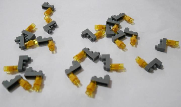 ナノブロックの飾りの部分、風鐸