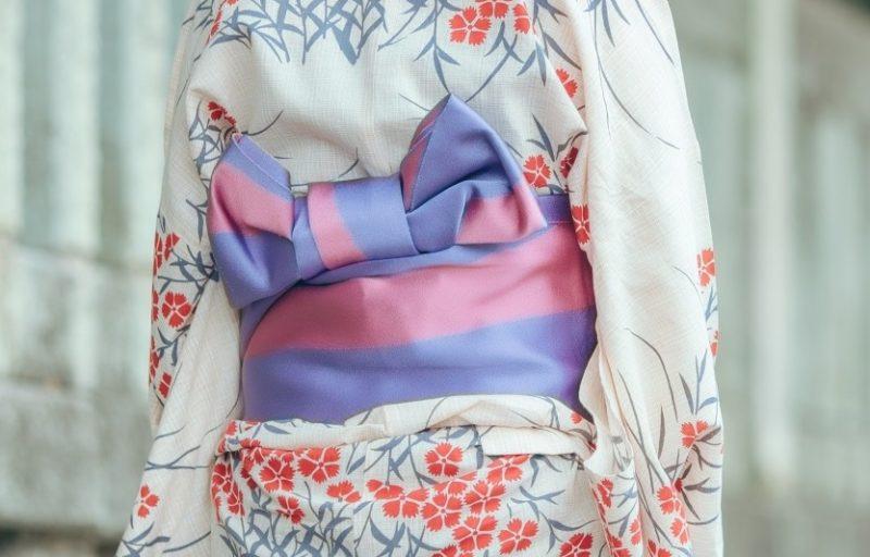 浴衣で使う半幅帯
